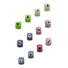 Set of 12 Shapes Craft Hole Punch Decorative Cardmaking Confetti Making