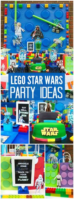 At this Lego Star Wars party, the kids got training at the Jedi Academy! See more party ideas at CatchMyParty.com!