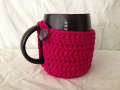 Magenta mug cozy