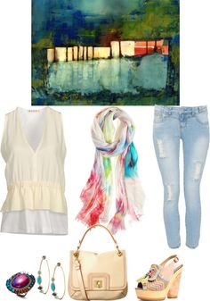 """Love abstract art!"" by musicfriend1 on Polyvore"