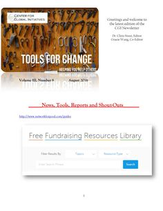 2016 August Tools for Change CGI Newsletter