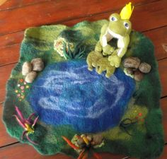 The frog prince. One of the felted creations made by the Yallingup Steiner School craft group for the annual fund raising auction.