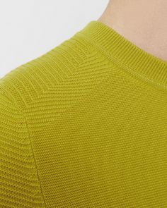 Textured crew neck jumper - Lime | Knitwear | Ted Baker UK
