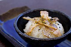 Salmon Skin on rice with Shichimi 8