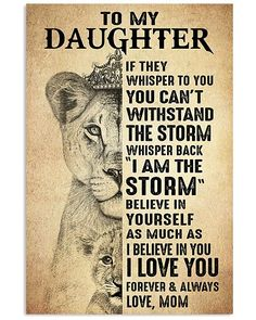Mother Shirts, Hoodies, Posters, Mugs Love You Daughter Quotes, Mother Daughter Quotes, I Love My Daughter, Son Quotes From Mom, Sayings About Daughters, My Beautiful Daughter, Love My Kids, To My Son, I Love You Son