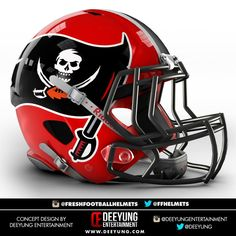Graphic designer Dee Yung, a sports fan based in Oklahoma, has created eye-catching, unofficial concept designs for all 32 NFL helmet logos. Which of these are better than the versions teams use now, and which ones are worse? Football Helmet Design, College Football Helmets, Football Memes, Football And Basketball, Football Uniforms, Football Gear, Football Stuff, Buccaneers Football, Tampa Bay Buccaneers