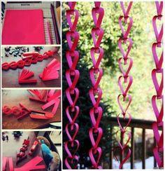 Guirnalda de corazones para San Valentín - http://ini.es/1lvUNKc