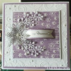 Phills' Crafty Place: Hochanda TV Shows Simple Christmas Cards, Homemade Christmas Cards, Noel Christmas, Xmas Cards, Homemade Cards, Handmade Christmas, Holiday Cards, Christmas Crafts, Snowflake Cards