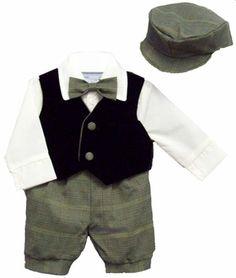 Baby Boy Suits : Alvin Boys 5pc Knicker Vested Set