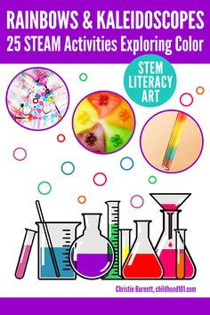 25 Hands-On Colour Activities Kids Will Love: STEM, Art, Literacy & More - kids science Colour Activities, Painting Activities, Steam Activities, Kids Learning Activities, Science Activities, Fun Learning, Science Ideas, Science Art, Science Experiments