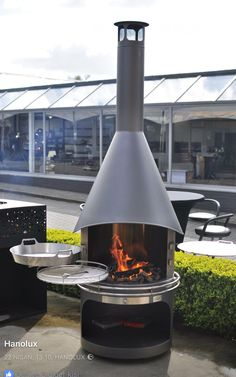 Barbecue, Bbq Grill, Outdoor Fire, Outdoor Living, Outdoor Decor, Rocket Stove Design, Outside Fireplace, Nice Designs, Fire Table