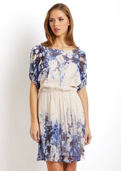 ECI Silk Chiffon Dress. Love the floral, soft and simple.