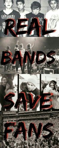 Real Bands save fans, Real fans save bands -Michael Clifford