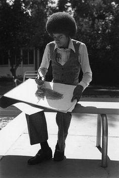 Michael J. Jackson drawing.