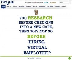 Yes, that's true. Now, you can hire virtual employee at $4/hour in professions like: web design - development, copy writing,SEO, lead generation, data entry and accounting at Neyox Outsourcing. Call today +1-646-568-5516 or +44-203-002-0041 for more information or visit: http://neyox.com/hire-virtual-employee.html