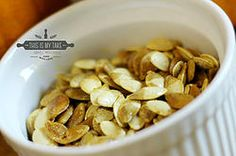 Roasted Spicy Pumpkin Seeds #seeds #pumpkin #foodie #recipe #recipes #healthy #fitness #october #fall #foodblog #foodblogger #thisismytake
