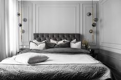 Inside a Refined Stockholm Apartment in Shades of Grey - Nordic Design Dream Bedroom, Home Bedroom, Bedroom Decor, Bedrooms, Mater Bedroom, Nordic Bedroom, Stockholm Apartment, Guest Room Decor, Nordic Design