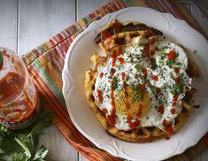 Cheddar-Sausage-Cornmeal-Waffles