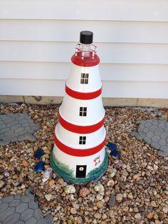My clay pot lighthouse