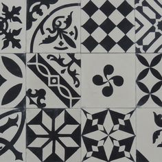 Patchwork - black and white - Sortiment