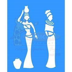 Stencil Africanas 20x25 - OPA