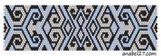 схема браслета мозаичное плетение
