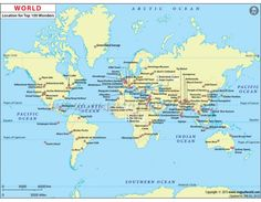 Buy Map Of Major Capitals Of The World Online Buy Maps - Online world map
