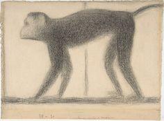 Monkey study for La Grande Jatte, 1884, Georges Seurat
