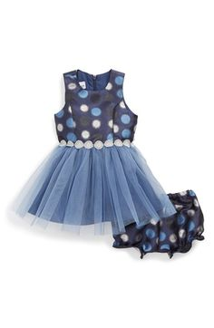 Pippa & Julie Polka Dot Tulle Dress (Baby Girls)