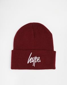 Beanie by Hype Soft ribbed knit Rolled cuff Contrast branding Hand wash Acrylic Asos Online Shopping, Online Shopping Clothes, Burgundy Fashion, Beanie Hats, Latest Fashion Clothes, Branding, Mens Fashion, Clothes For Women, Knitting
