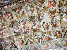 visão parcial do teto da Capela Sistina