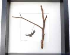 Scottish pebble art picture: swing by PebblePictures on Etsy Pebble Pictures, Stone Pictures, Art Pictures, Pebble Stone, Pebble Art, Stone Art, Stone Crafts, Rock Crafts, Crafts With Rocks