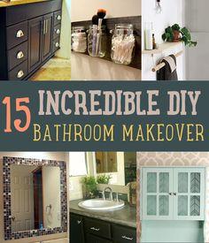 Bathroom Makeovers on a Budget | 15 Incredible DIY Bathroom Makeovers by DIY Ready at http://diyready.com/incredible-diy-bathroom-makeover/