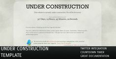 Shopping Under Construction Pages with Twitter & Countdownso please read the important details before your purchasing anyway here is the best buy