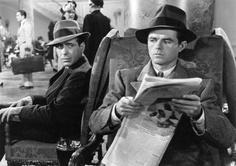 "Humphrey Bogart as Sam Spade Elisha Cook Jr. as Wilmer Cook in Warner Bros The Maltese Falcon"" [John Huston, Humphrey Bogart, John Wayne, Best Classic Movies, Great Movies, Iconic Movies, Maltese, Classic Hollywood, Old Hollywood, Orange Cinema"