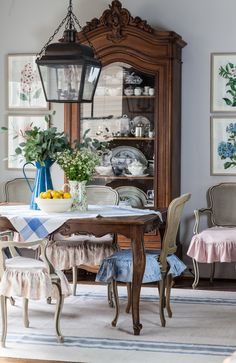 My Beautiful Designed Rug and More Updates for a Country French Dining Room- Cedar Hill Farmhouse French Country Dining Room, French Country House, French Decor, French Country Decorating, French Cottage Decor, Beautiful Dining Rooms, Dining Room Design, Room Decor, Cedar Hill