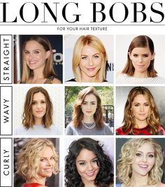 Find the Perfect Long Bob For Your Hair Texture | Daily Makeover