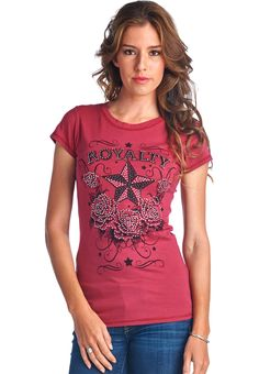 Short Sleeve Round Neck Printed Top - T0096