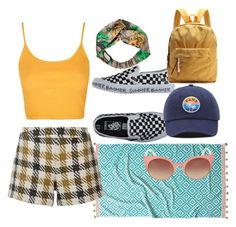 """Summer"" by matildcurley on Polyvore featuring Gucci, Vans, John Robshaw, Topshop, Fendi and Alice + Olivia"