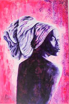La mujer de Ébano | Ebony woman | Acrílico sobre lienzo | Acrylic on canvas by Pili Tejedo 80 x 120 cm