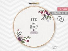 ROYAL FLORAL WEDDING record counted cross stitch pattern modern shower bride gift diy bridal house warming custom alphabet flower sampler by PineconeMcGee Wedding Cross Stitch, Cross Stitch Baby, Simple Cross Stitch, Counted Cross Stitch Patterns, Easy Cross, Embroidery Patterns, Crochet Patterns, Hand Embroidery, Wedding Embroidery