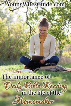 I've struggled with consistent Bible reading time throughout my Christian life. In some seasons I've been really strong and other seasons have been terrible. BUT, daily Bible reading time is vital and something I should be working on daily. ---> http://youngwifesguide.com/the-importance-of-spending-time-in-gods-word/