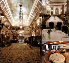 Pfister hotel lobby (left); The Rouge (top right); and The Pfister Room at Mason Street Grill seats 50-60 people. Photos courtesy of Marcus Corp.