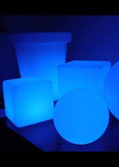 Reception / Dancing: L.E.D. Light Cubes & Balls