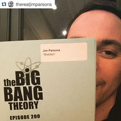 """THE 200th #BIGBANGTHEORY! Get ready! @therealjimparsons ・・・ Even 200th episodes get re-writes #bluepages #200episodeshowoldami?!?…"""