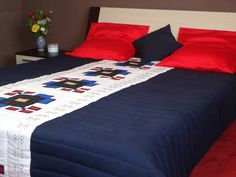 Homemade Comforter with Romanian traditional motifs