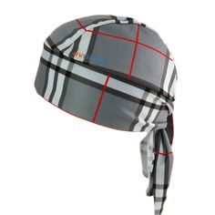 UV Bandana Skull Cap 307 Grey Plaid