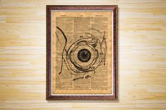 Hey, I found this really awesome Etsy listing at https://www.etsy.com/listing/229916191/human-eye-poster-medical-dictionary-page