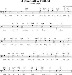 O Come All Ye Faithful Cello Sheet Music - http://cellosheetmusic.net/title/o-come-all-ye-faithful/
