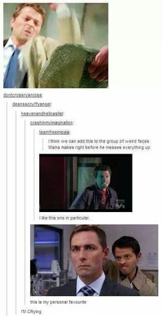 Misha faces// THE BOTTOM ONE MAKES ME CRY FROM LAUGHTER EVERY DANG TIME